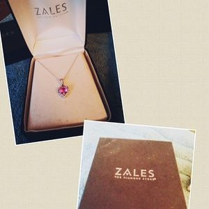Zales 7.0mm Heart-Shaped Necklace